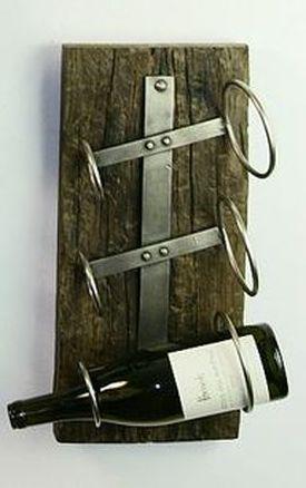 Iron Three Bottle Wall Mounted Wine Rack