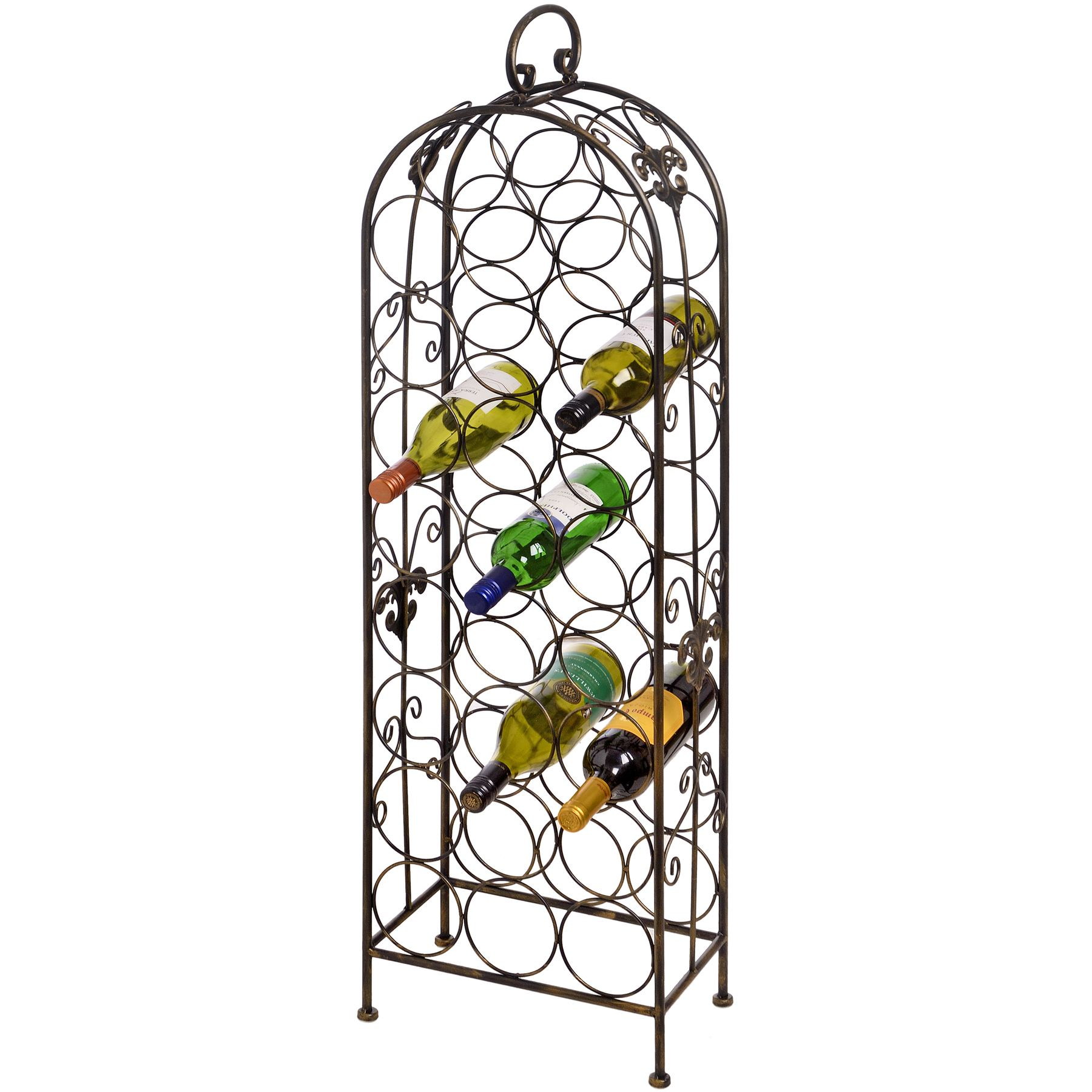 Bottle metal wine rack cranville racks