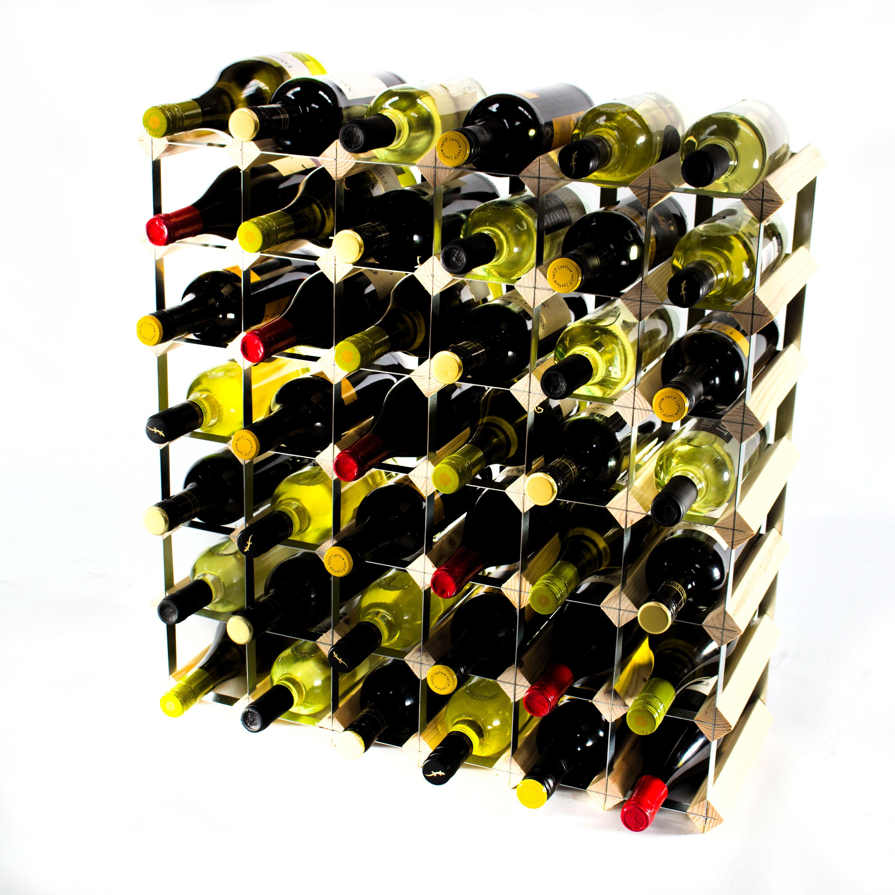 Classic 42 Bottle Pine Wine Rack Ready Assembled Cranville