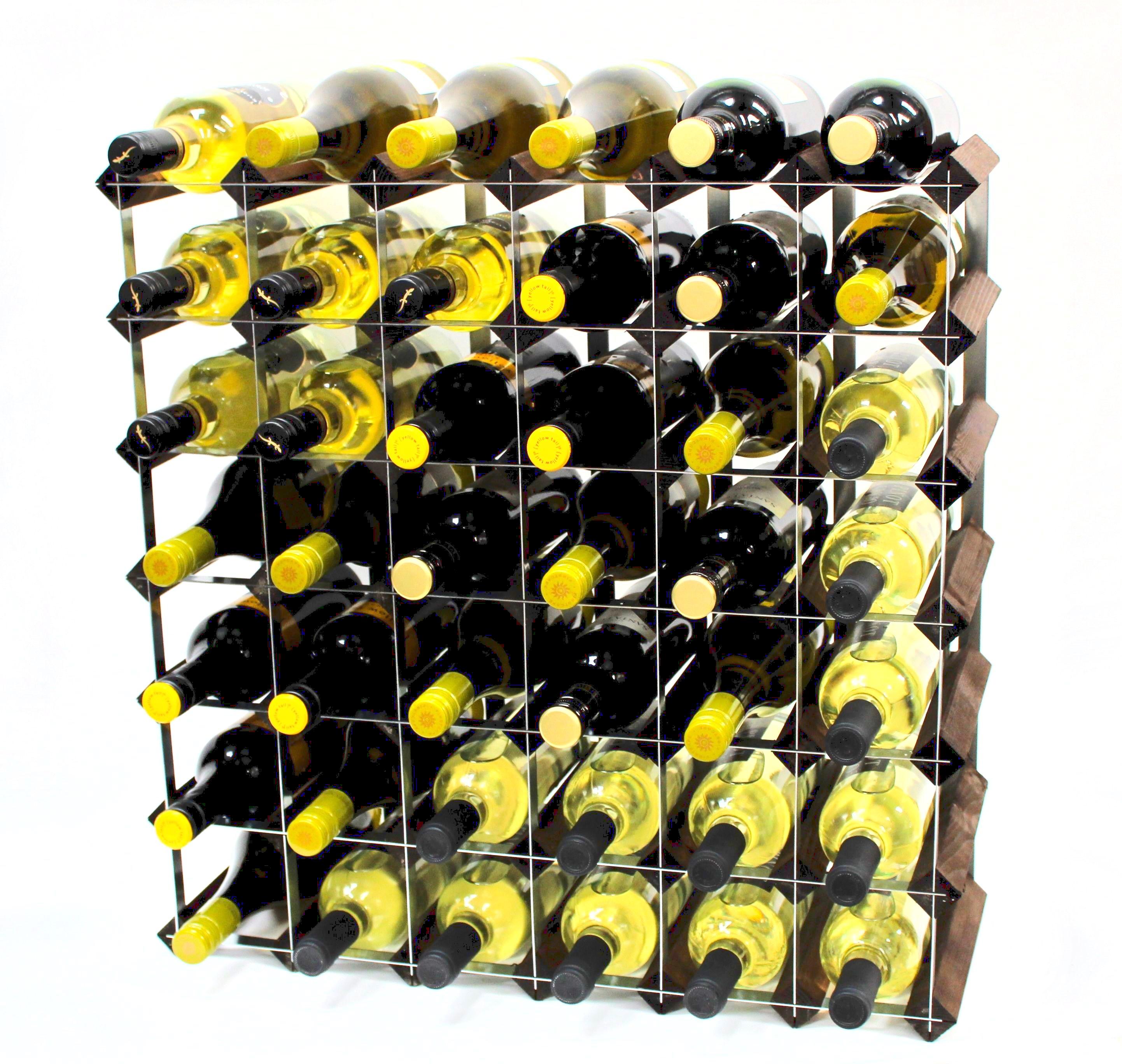 cranville 42 flasche dunkle eiche buntglas holz und metall weinregal 5060247930725 ebay. Black Bedroom Furniture Sets. Home Design Ideas