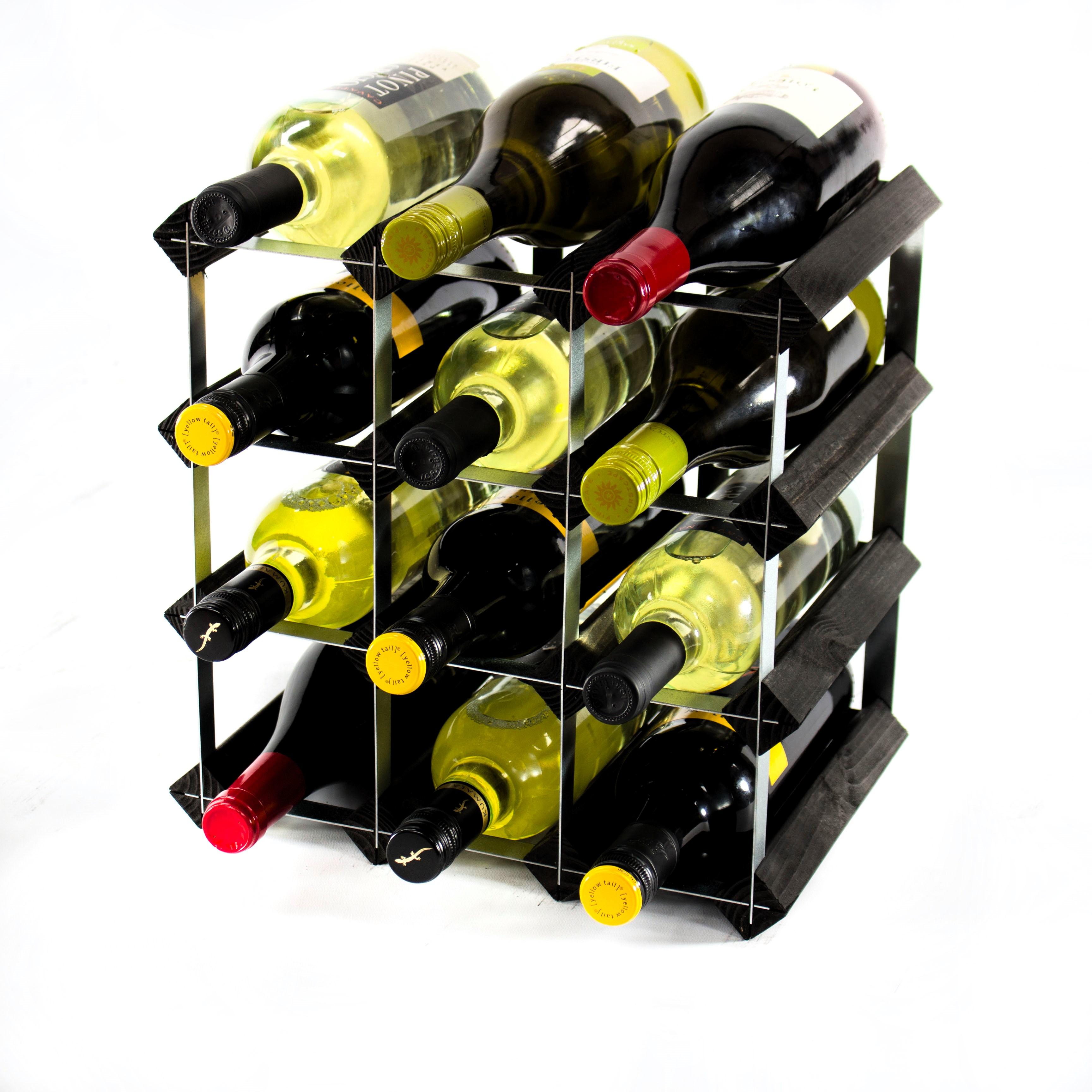 Classic 12 Bottle Wine Rack Ready Assembled Cranville