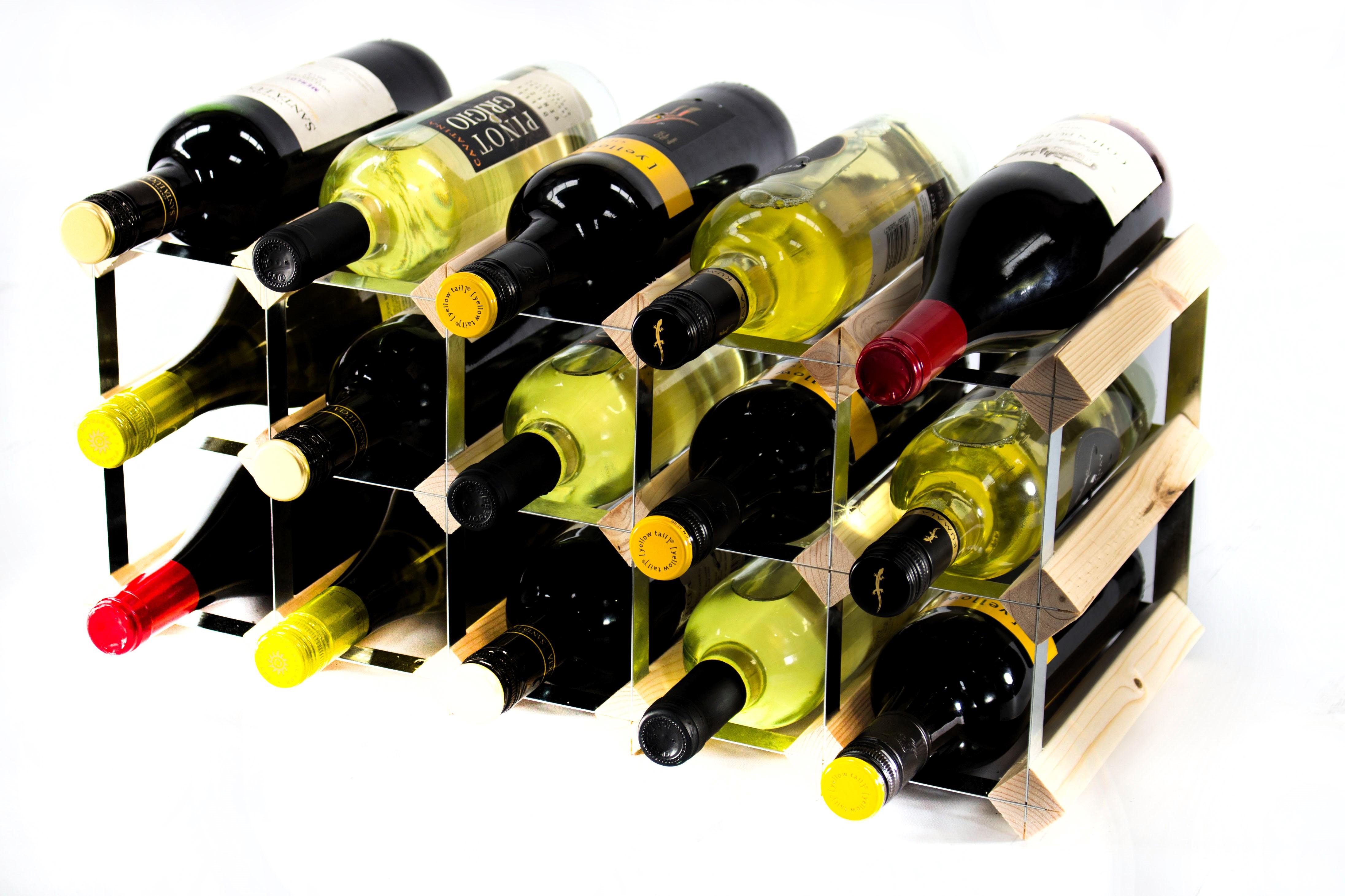 Classic 15 Bottle Pine Wine Rack Ready Assembled Cranville