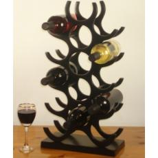 15 Bottle solid aluminum wine rack in a gloss / satin black finish