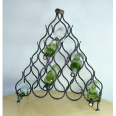 Fifteen bottle iron wine rack