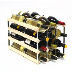 Double depth 24 bottle wine rack
