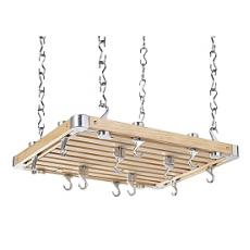 Rectangular all Hevea wood hanging rack