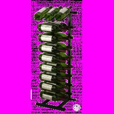27 Bottle black metal display wine rack.