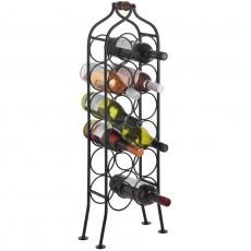 Twelve bottle iron wine rack