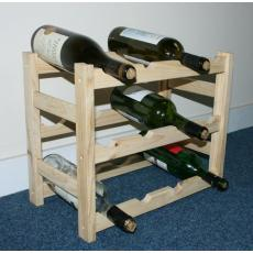 12 bottle stock type wine rack kit