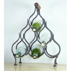 Six bottle iron wine rack