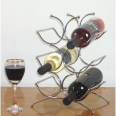 Six bottle chrome wine rack