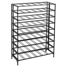 54 Bottle rectangular metal wine rack - Matt black
