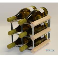 Classic 6 bottle wine rack ready assembled