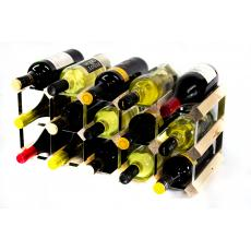 Classic 15 bottle wine rack self assembly