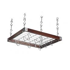 Square dark wood hanging rack