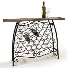 Wine Bottle Console Table