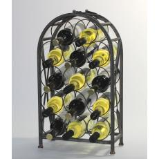 Salvage chic 14 bottle metal wine rack