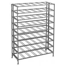 54 Bottle rectangular metal wine rack - Antique silver
