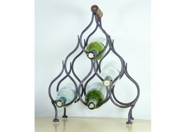 Six bottle iron wine rack image