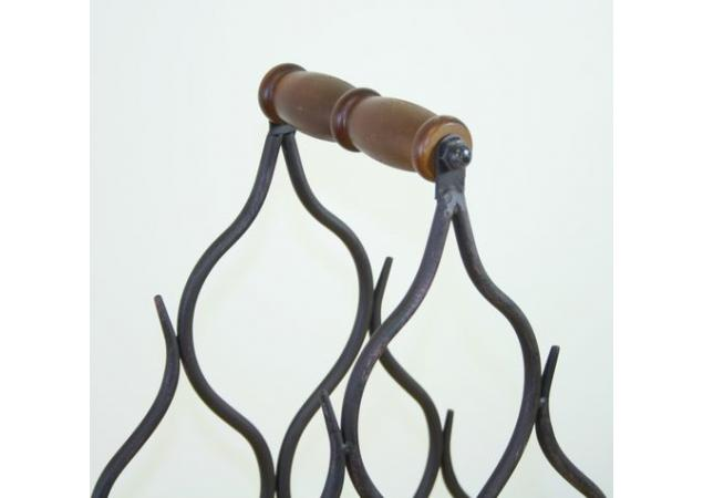 Six bottle iron wine rack image