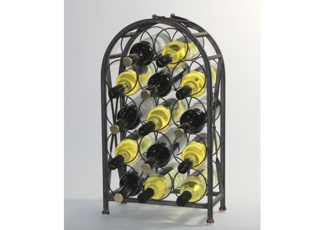 Salvage chic 14 bottle metal wine rack image