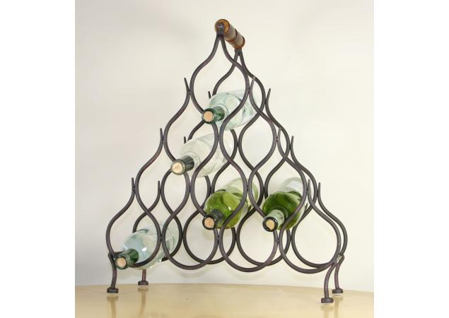 Ten bottle iron wine rack image