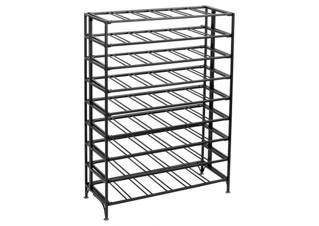 54 Bottle rectangular metal wine rack - Matt black image