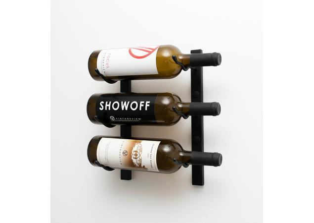 3 bottle wall mounted wine rack