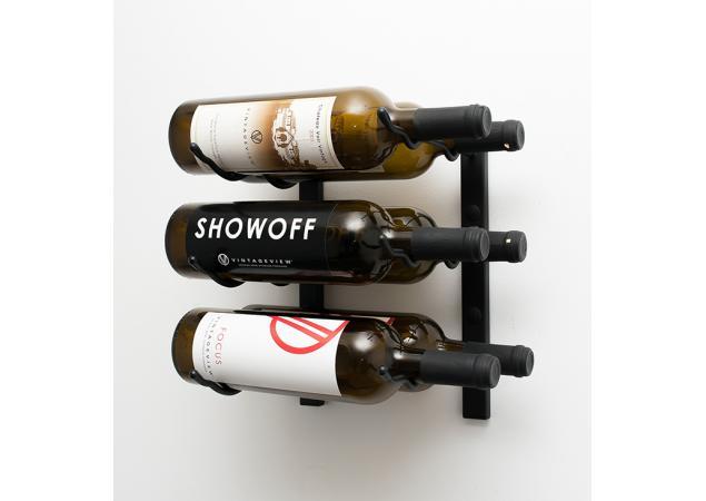 6 Bottle wall mounted wine rack