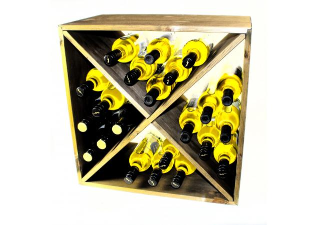 wine rack cube flat pack