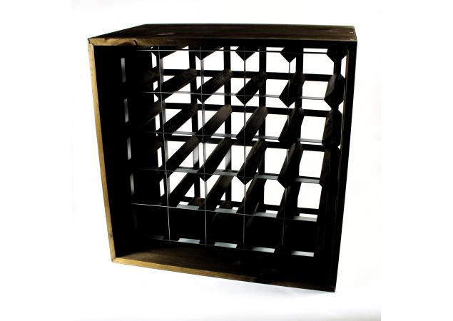 wine rack cube 25 bottles