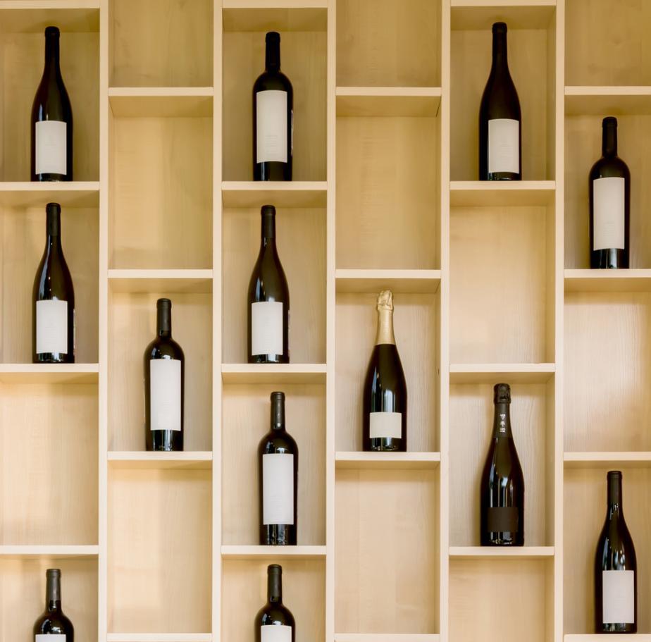 variety of bottles of wine