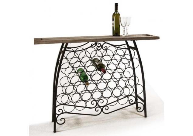 Wine Bottle Console Table image