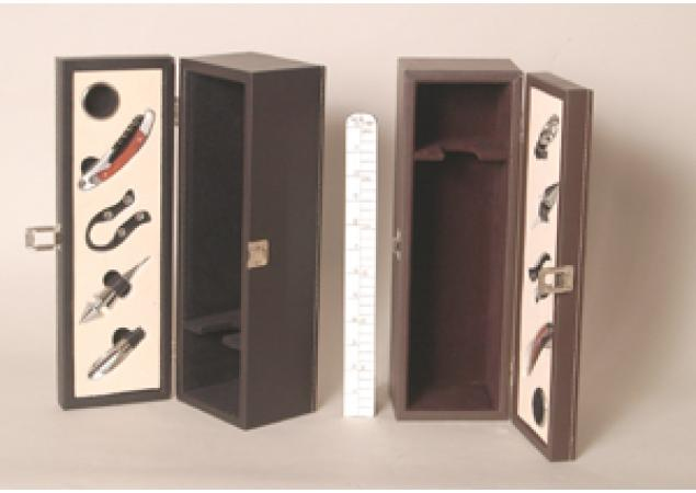 Wine bottle presenation box with accessories image