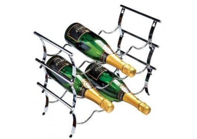 12 Bottle Chrome Winestak image