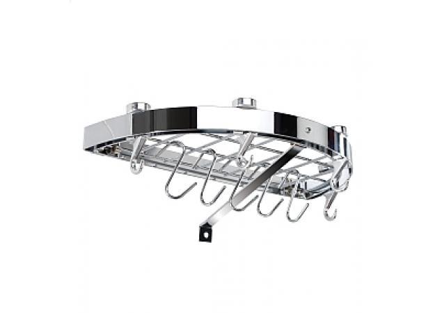 Half round chrome wall rack image