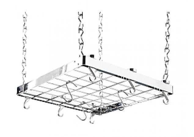 Square chrome hanging rack image