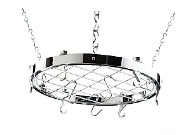 Round chrome hanging rack image