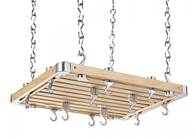 Rectangular all Hevea wood hanging rack image