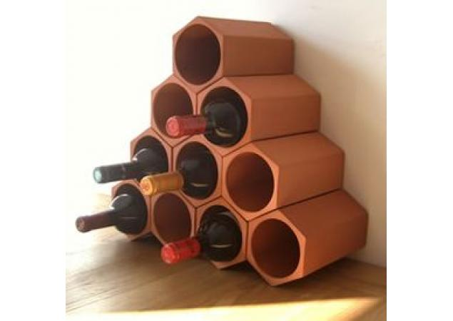 Terracotta wine rack cell 10 pack image