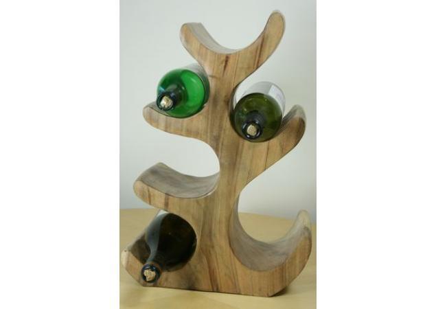 6 Bottle solid wood wine holder image
