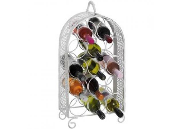 Shabby chic 14 bottle wine rack image