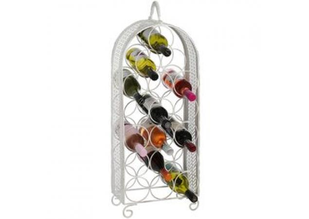 Shabby Chic 18 Bottle Wine Rack Image