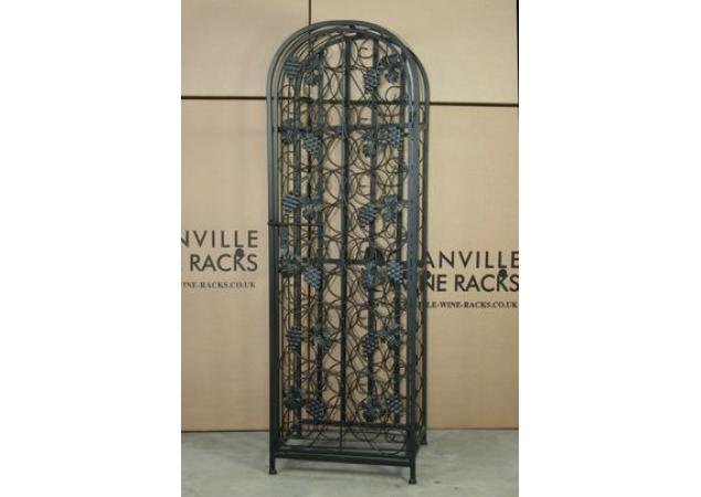 45 Bottle Wrought iron effect wine rack with door image