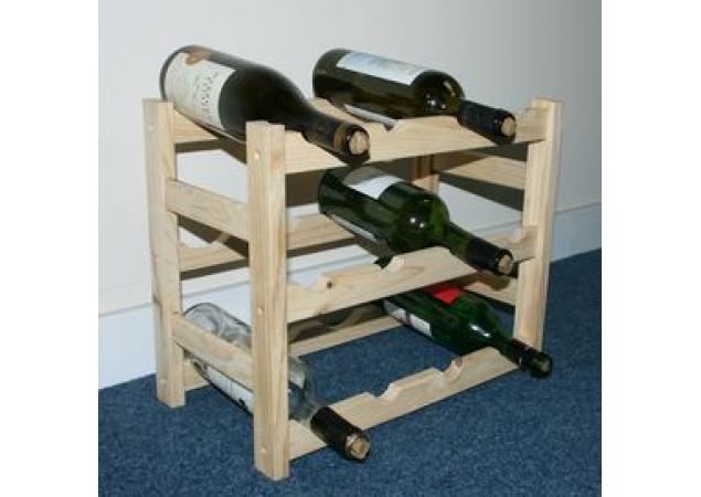 12 bottle stock type wine rack kit image