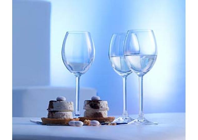 Pure white wine glass x 6 image