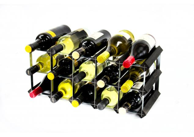 Classic 15 bottle wine rack ready assembled image