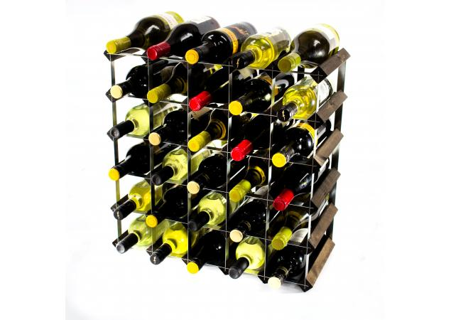 Classic 30 bottle wine rack self assembly image