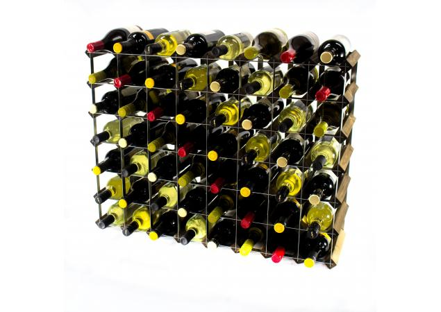 Classic 56 bottle wine rack ready assembled image