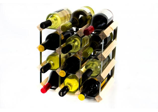 Classic 12 bottle wine rack self assembly image